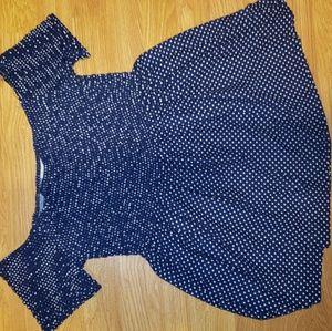 Nwot blue with white polka dot gorgeous mini dress